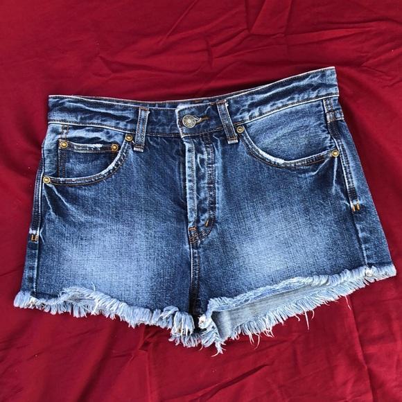Free People Denim Cut-Off Shorts 100% Cotton Sz 26